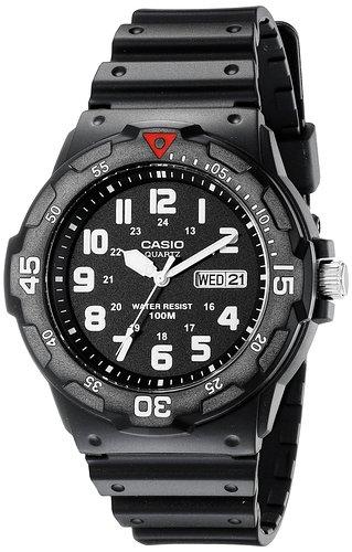 Casio Men's MRW200H-1BV Analog Japanese Quartz Black Watch