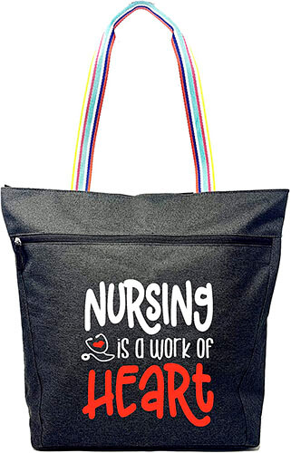 Large Nursing Zippered Tote Bag by Brooke and Jess