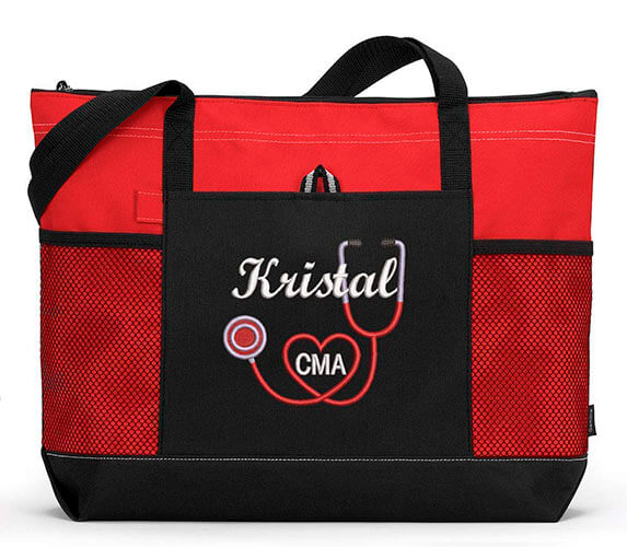 Personalize Embroidered Tote Bag by Simply Custom Life