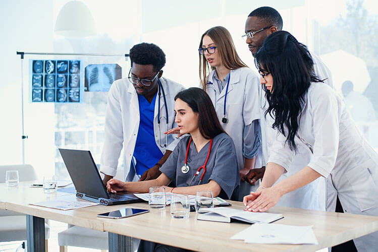 Nursing Students with Laptop