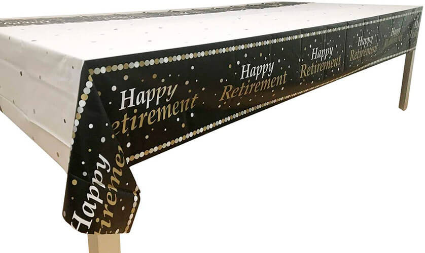 Happy Retirement Table Cover