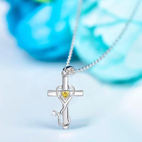 Medical Themed Stethoscope Pendant Necklace