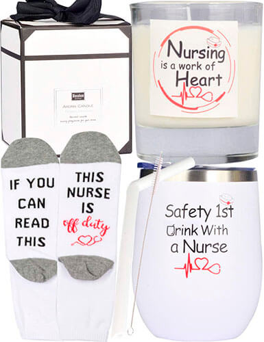 """""""Safety First Drink With A Nurse"""" Tumbler"""