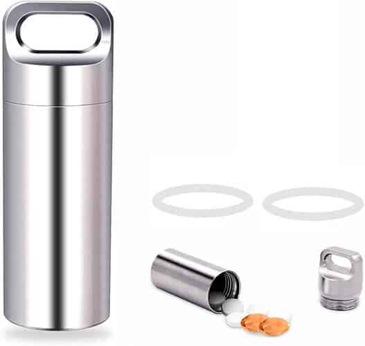 The Sturdy Single Chamber Stainless Steel Pill Case