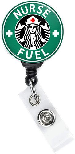 Nurse Fuel Retractable Badge Clip