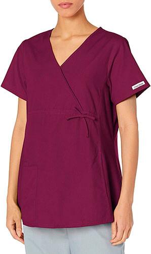 Cherokee Women's Professional Maternity Mock Wrap Scrubs Shirt